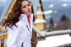 Winter holidays - child in winter resort Royalty Free Stock Photo
