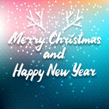 Winter holidays colorful card Royalty Free Stock Photo