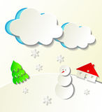 Winter holidays cutout themed illustration Stock Images