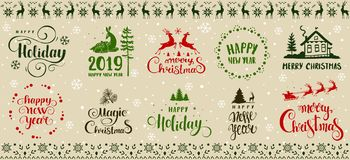 Winter holidays design stock image