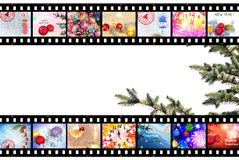 Winter Holidays Film Strip Background Stock Image
