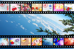 Winter Holidays Film Strip Background Royalty Free Stock Photo