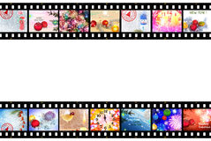 Winter Holidays Film Strip Background Stock Photo