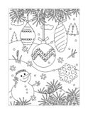 Winter holidays find the differences picture puzzle with pigs, gifts, christmas tree royalty free illustration
