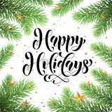 Winter holidays greeting card for Christmas Stock Images
