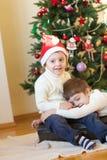 Winter holidays at home stock photo