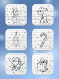 Winter holidays icons Royalty Free Stock Photos
