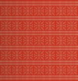 Winter holidays knitted pattern with snowflakes and reindeers Stock Photos