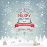 Winter holidays landscape Royalty Free Stock Image