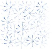 Winter and holidays, light background of blue snowflakes on white Stock Images