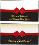 Winter holidays luxury greeting cards Royalty Free Stock Photos