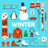 Winter holidays objects Royalty Free Stock Photo