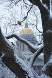 St. Isaac`s Cathedral in Saint Petersburg. Winter holidays in one of the most beautiful cities in Europe - Saint Petersburg. New Year and Christmas celebration royalty free stock images