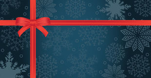 Winter holidays paper background with red bow Stock Photos