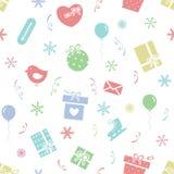 Winter holidays pattern 2 Royalty Free Stock Image