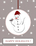 Winter holidays postcard Royalty Free Stock Photo