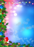 Winter Holidays postcard wallpaper background Stock Image