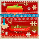 Winter holidays scrapbook kit Royalty Free Stock Images