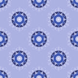 Winter holidays seamless background pattern. Blue circular shapes. Vector Stock Images