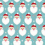 Winter holidays seamless pattern background with funny cartoon S Royalty Free Stock Image