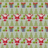 Winter holidays seamless pattern background with green fir, bran Royalty Free Stock Photo