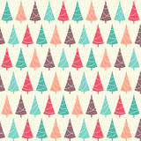 Winter holidays seamless pattern with Christmas trees Royalty Free Stock Photo