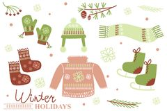 Winter holidays Royalty Free Stock Images