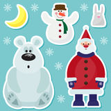 Winter holidays set Royalty Free Stock Photo