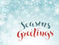 Seasons greetings greeting card royalty free illustration