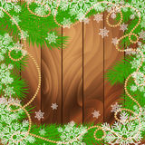Winter holidays snowy golden background Royalty Free Stock Photography