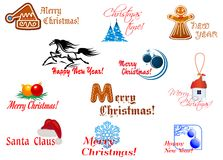Winter holidays symbols Royalty Free Stock Image