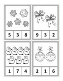 Math activity page for kids - count, circle the answer, color royalty free illustration