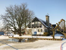 Winter in Holland. Oud Ade, Netherlands - February 4, 2012. Typically Dutch winter landscape Stock Images