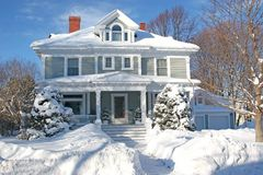 Winter Home Stock Images