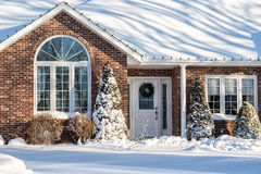 Winter Home Royalty Free Stock Photo