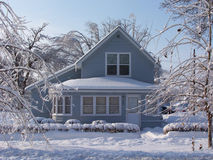 Winter Home Front Stock Photography
