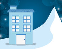 Winter homes design. Vector illustration eps10 graphic royalty free illustration