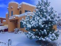 Winter Homes in Santa Fe Stock Photo