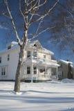 Winter Homestead Stock Photos