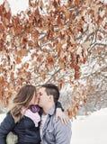 Winter honeymoon Royalty Free Stock Photo