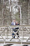Winter honeymoon Stock Image
