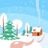 Winter horizontal banner Stock Photography