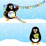 Winter horizontal banner Stock Images