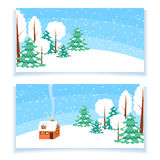 Winter horizontal banner Royalty Free Stock Image