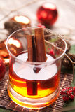 Winter Hot alcohol drink with cinnamon Royalty Free Stock Photos