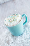 Winter Hot Chocolate Drink With Snow Royalty Free Stock Image