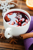 Winter hot drink of wine, mulled wine Royalty Free Stock Photo