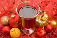 Winter hot tea Stock Photo