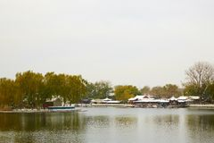 Winter Houhai park, Beijing royalty free stock images