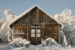 Winter house Stock Images